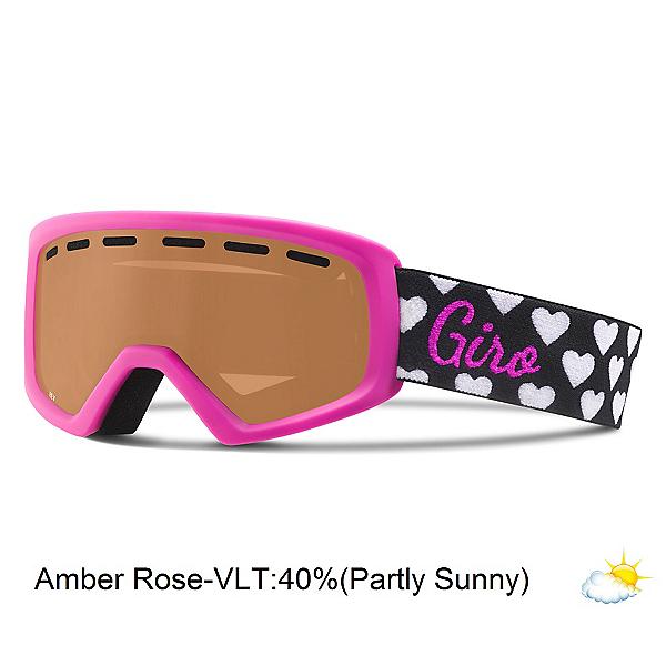Giro Rev Kids Goggles, Magenta Hearts-Amber Rose, 600