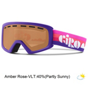 Giro Rev Kids Goggles 2016, Purple Clouds-Amber Rose, medium