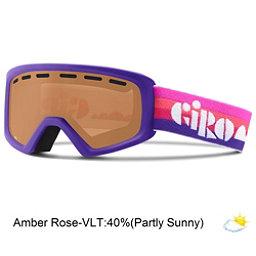 Giro Rev Kids Goggles, Purple Clouds-Amber Rose, 256