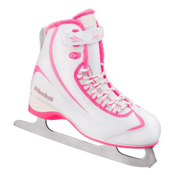 Riedell 615 SS Girls Figure Ice Skates, White-Pink, medium