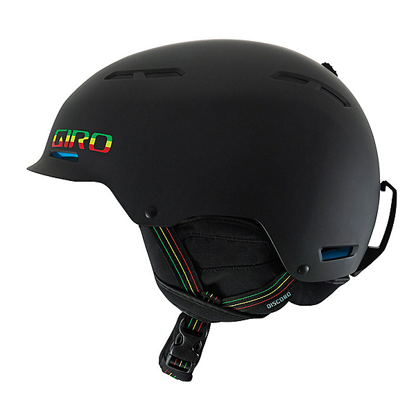 Giro Discord Helmet, Matte Black Rasta, 600
