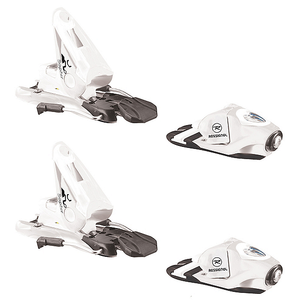 Rossignol Saphir 110 Womens Ski Bindings, White-Black, 600