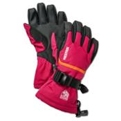 Hestra CZone Gauntlet Girls Gloves, Fuschia-Orange, medium