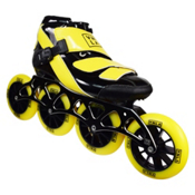 Vanilla Spyder Race Inline Skates, Black-Yellow, medium