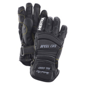 Hestra RSL Comp Vertical Cut Womens Ski Racing Gloves, Black, medium
