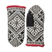 Hestra Nordic Wool Womens Mittens, Black-Off White, medium