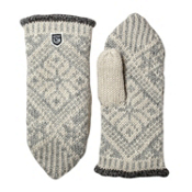 Hestra Nordic Wool Womens Mittens, Grey-Off White, medium