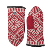 Hestra Nordic Wool Womens Mittens, Red-Off White, medium