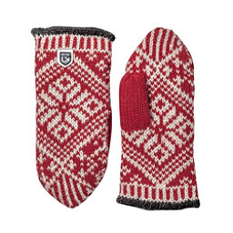 Hestra Nordic Wool Womens Mittens, Red-Off White, 256