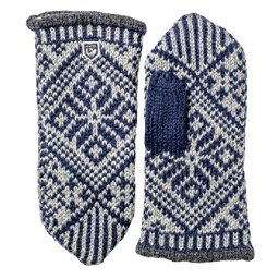 Hestra Nordic Wool Womens Mittens, Navy-Grey, 256