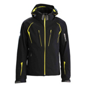 Descente Swiss WC Mens Insulated Ski Jacket, Black-Lime, medium