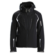 Descente Swiss WC Mens Insulated Ski Jacket, Black-Super White, medium