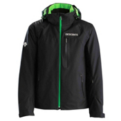 Descente Canada Cross Mens Insulated Ski Jacket, Black-Green, medium