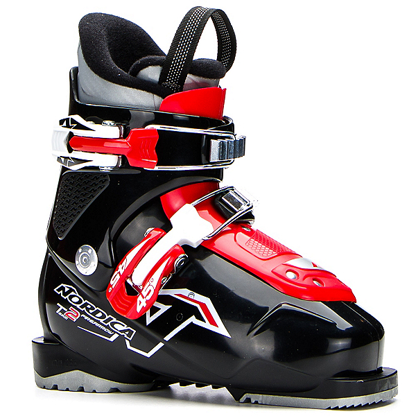Nordica Team 2 Kids Ski Boots 2018, Black-Red, 600