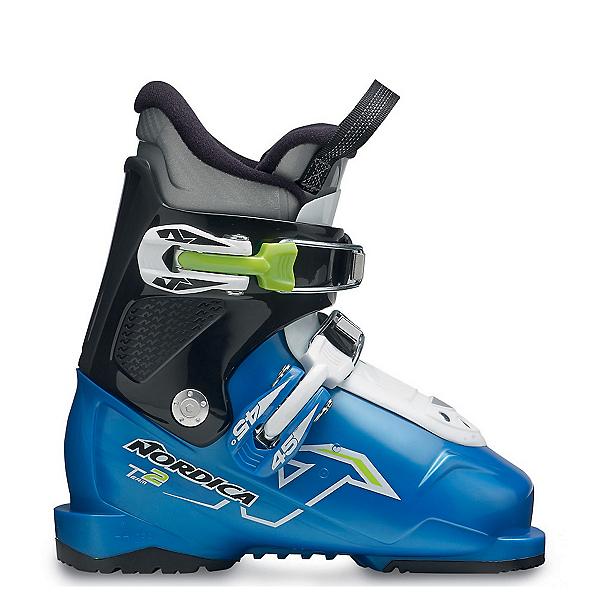Nordica Team 2 Kids Ski Boots 2017, Blue-Black-White, 600