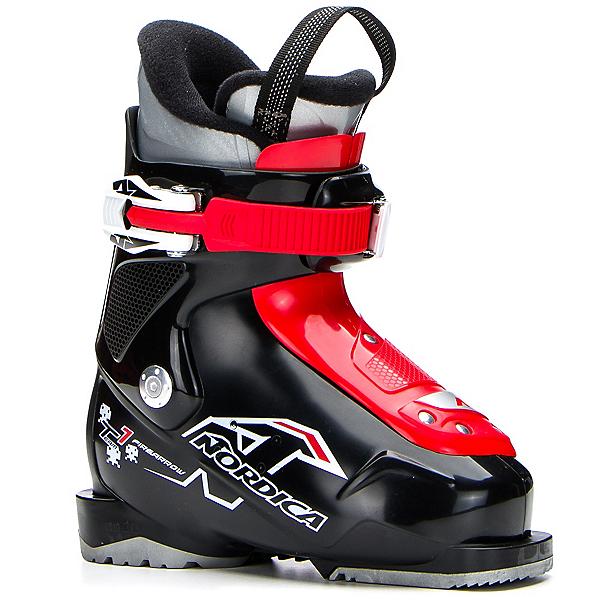 Nordica Team 1 Kids Ski Boots 2018, Black-Red, 600