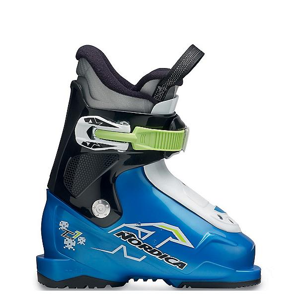Nordica Team 1 Kids Ski Boots 2017, Blue-Black-White, 600