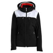 Descente Becca Womens Insulated Ski Jacket, Black-Super White, medium