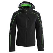 Descente Baron Mens Insulated Ski Jacket, Black-Green, medium