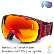 Smith I/O Goggles 2015, Fire Insomniac-Red Sol X + Bonus Lens, medium