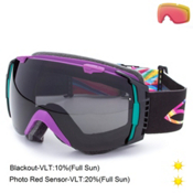 Smith I/O Goggles, Facemelter-Blackout + Bonus Lens, medium