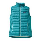 Patagonia Down Sweater Womens Vest, Tobago Blue, medium