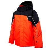 Spyder Guard Boys Ski Jacket, Volcano-Black-White, medium