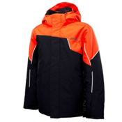 Spyder Guard Boys Ski Jacket, Black-Volcano-White, medium
