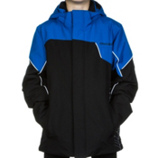 Spyder Guard Boys Ski Jacket, Black-Stratos Blue-White, medium