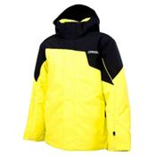 Spyder Guard Boys Ski Jacket, Acid-Black-Acid, medium