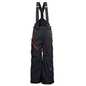 Spyder Avenger Kids Ski Pants, Black-Volcano, medium