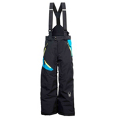 Spyder Avenger Kids Ski Pants, Black-Electric Blue-Acid, medium