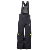 Spyder Force Kids Ski Pants, Black-Mantis Green, medium
