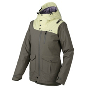 Oakley 10-4 Womens Insulated Snowboard Jacket, Grigio Scuro, medium