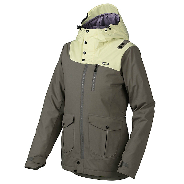 Oakley 10-4 Womens Insulated Snowboard Jacket, Grigio Scuro, 600
