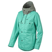 Oakley Charlie Womens Shell Snowboard Jacket, Turquoise, medium