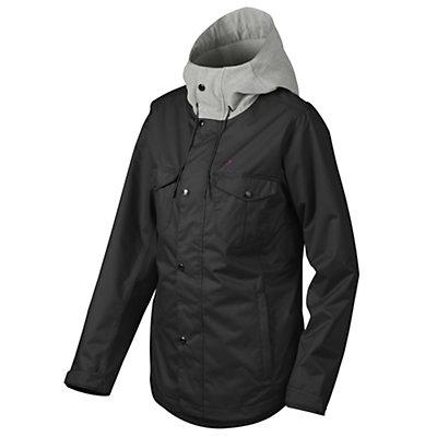 Oakley Charlie Womens Shell Snowboard Jacket, Jet Black, viewer