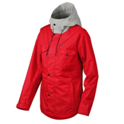 Oakley Charlie Womens Shell Snowboard Jacket, Red Line, medium
