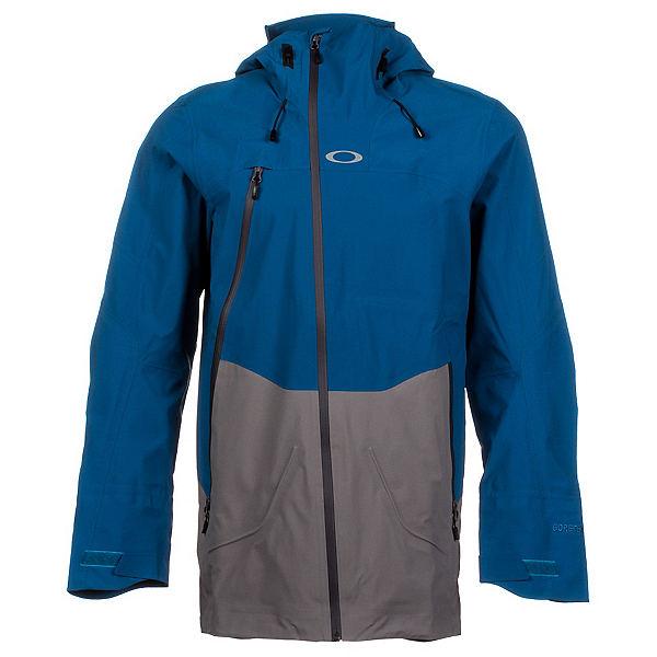 Oakley Aircraft 3L Gore-Tex Mens Shell Ski Jacket, Moroccan Blue, 600