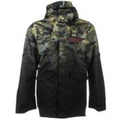Oakley Nighthawk Biozone Mens Insulated Snowboard Jacket, Olive Camo Fade, medium