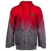 Oakley Nighthawk Biozone Mens Insulated Snowboard Jacket, Red Line Fade, medium