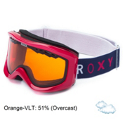 Roxy Sunset Basic Womens Goggles, Pink-Orange, medium
