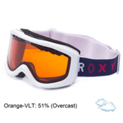 Roxy Sunset Basic Womens Goggles, White-Orange, medium