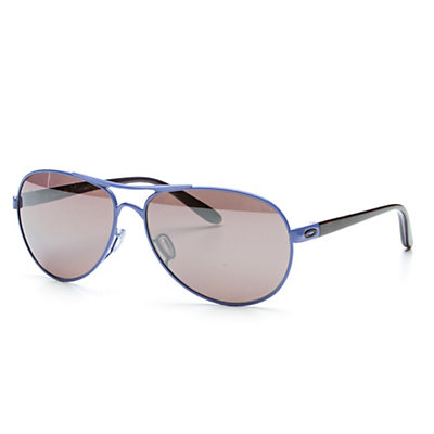 Oakley Feedback Polarized Womens Sunglasses, Wisteria Pearl-Oo Black Iridium Polarized, viewer