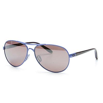 Oakley Feedback Polarized Womens Sunglasses, Wisteria Pearl-Oo Black Iridium Polarized, large