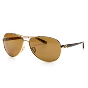 Oakley Feedback Polarized Womens Sunglasses, Polished Gold-Bronze Polarized, medium