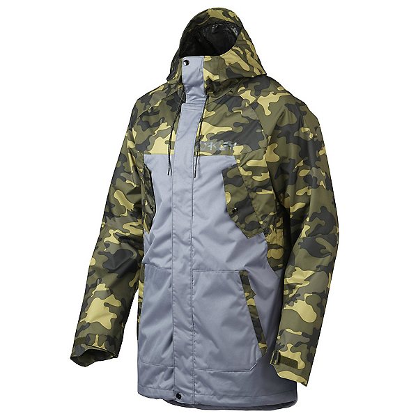 Oakley Regiment Mens Shell Snowboard Jacket, Olive Camo, 600