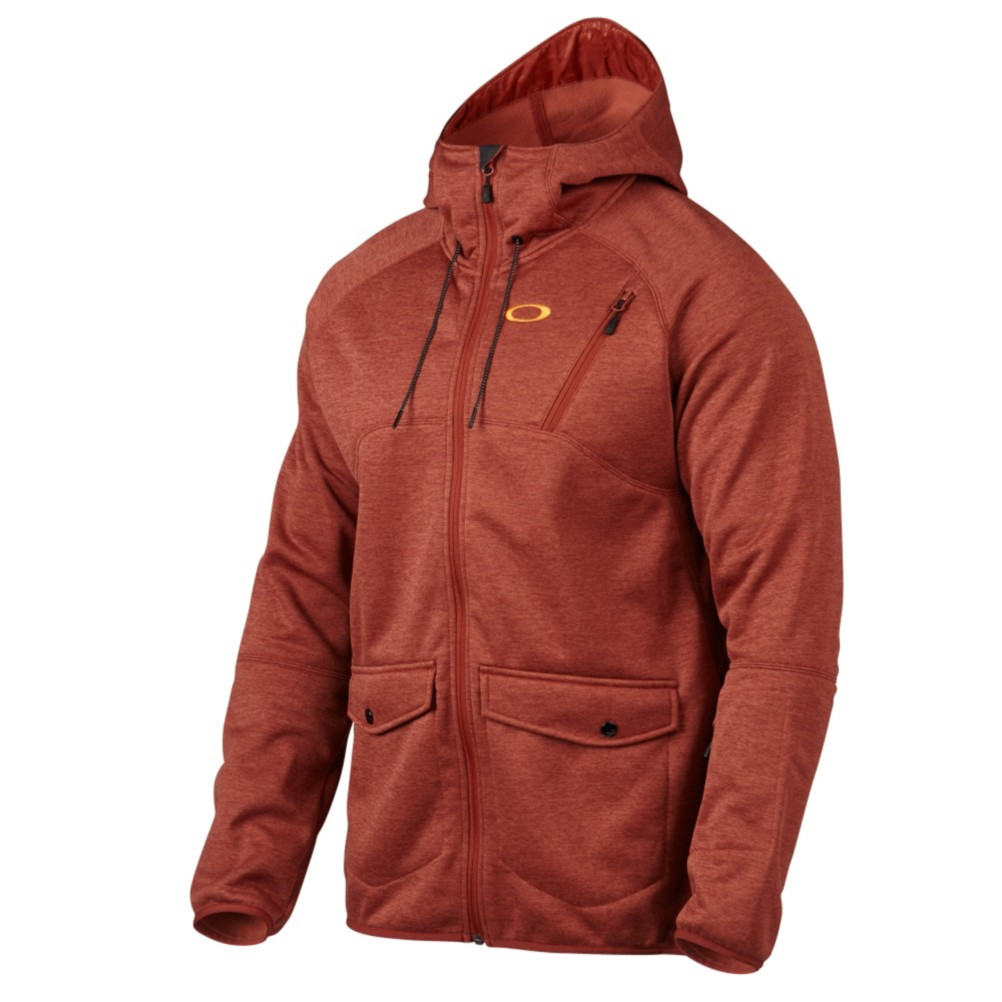 oakley ski jackets on sale  oakley fuel tank fleece mens jacket, burnt henna, 256