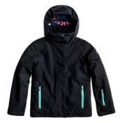 Roxy Jetty Girls Snowboard Jacket, Black, medium