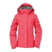 Roxy Jetty Girls Snowboard Jacket, Rasberry, medium